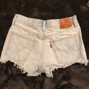 Levi's Shorts - High waist, light wash Levi's.